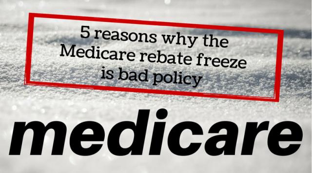 Medicare rebate freeze