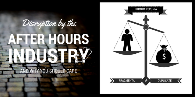 Disruption by the after hours industry and why you should care