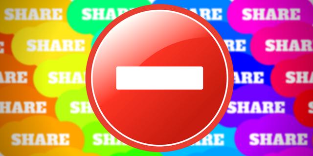No sharing